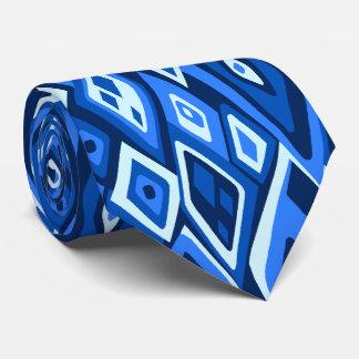 印刷される遠いレトロの抽象的な2側 ネクタイ