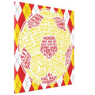印刷のサッカーボール箱のキャンバス キャンバスプリント