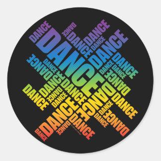 印刷のダンス(スペクトル) ラウンドシール