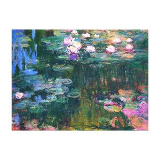 印象主義のスイレンの花の絵画 キャンバスプリント
