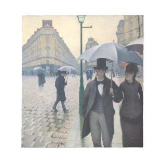 印象主義のパリのフランスのな通りの雨の日 ノートパッド