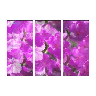 印象主義のフロックス属の花 キャンバスプリント