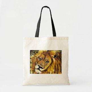 印象派のライオンのバッグ トートバッグ