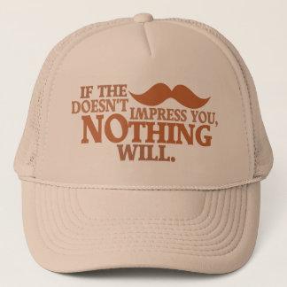 印象的な口ひげの帽子-色を選んで下さい キャップ