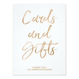 印|のスタイリッシュな金ゴールドを結婚するカードおよびギフトは上がりました 16.5 X 22.2 インビテーションカード