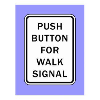 印-歩行信号のための押しボタン ポストカード