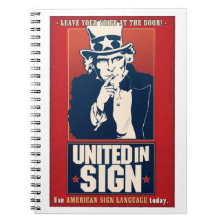 印(ASL)のノートで統一された ノートブック