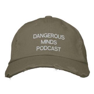 危ない心のポッドキャストによって刺繍される帽子 刺繍入りキャップ