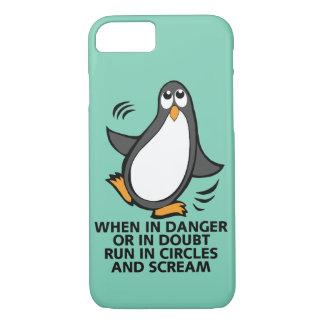 危険か不確かでおもしろいなペンギンのグラフィックで時 iPhone 8/7ケース