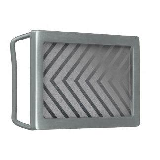 危険のストライプな金属 長方形ベルトバックル