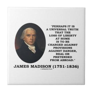 危険のマディソンの引用文に対する損失の自由家庭で タイル