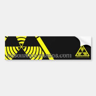 危険のロゴ共鳴イメージのバンパーステッカー バンパーステッカー