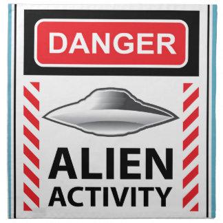 危険の外国の活動の警告標識のベクトル ナプキンクロス