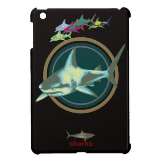 、危険の鮫注意して下さい iPad MINI カバー