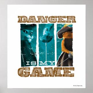 危険はです私のゲーム(ティール(緑がかった色)) ポスター