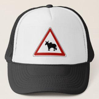 危険牛、交通標識、Burkina Fasso キャップ