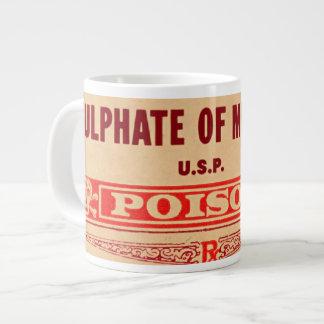 危険! ヤドリギの休日の硫酸塩 ジャンボコーヒーマグカップ