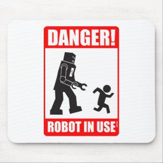 危険! ロボット使用中のマウスパッド マウスパッド
