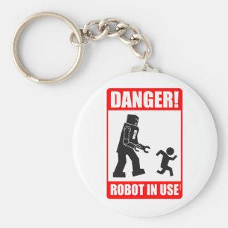 危険! ロボット使用中のKeychain キーホルダー