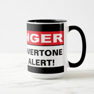 危険: 上音警報 マグカップ