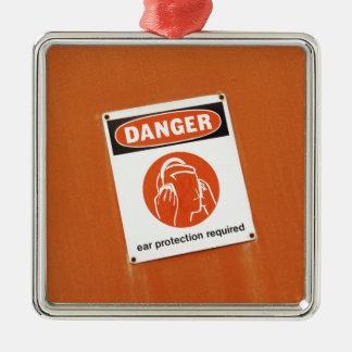 危険! 必要な防音保護具 メタルオーナメント