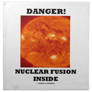 危険! 日曜日の表面の中の核融合 ナプキンクロス