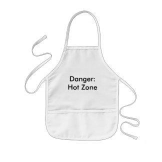 危険: 熱い地帯 子供用エプロン