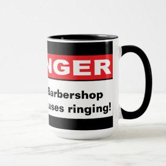 危険: 理髪店の原因の鳴ること マグカップ