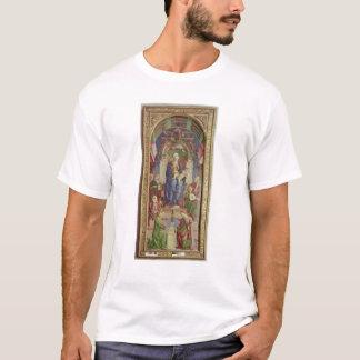 即位するヴァージンおよび子供中間1470s tシャツ