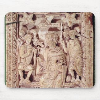 即位する王を描写するデイヴィッドプラク マウスパッド