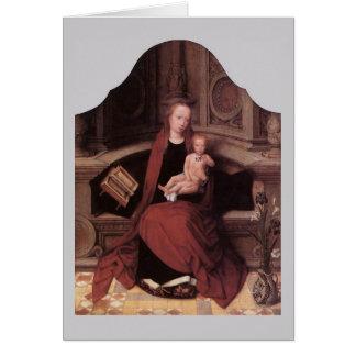 即位するAdriaen Isenbrandtのヴァージンおよび子供 カード