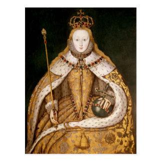 即位ローブのエリザベス女王一世 ポストカード