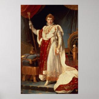 即位ローブ、c.1804のナポレオン ポスター