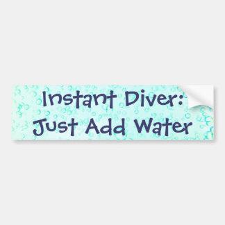 即刻のダイバー: ちょうど水を加えて下さい バンパーステッカー