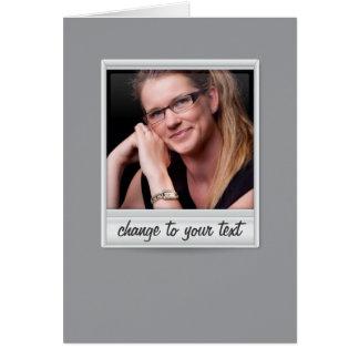 即刻の写真- photoframe -灰色の… ノートカード