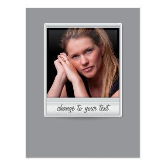即刻の写真- photoframe -灰色の… ポストカード