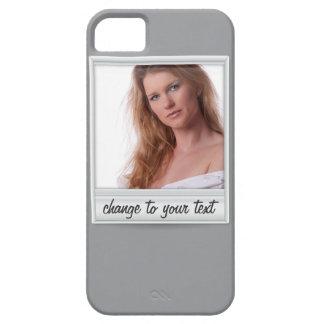 即刻の写真- photoframe -灰色の… iPhone 5 ケース