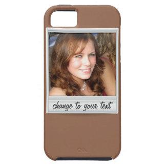 即刻の写真- photoframe -茶色の… iPhone 5 ケース