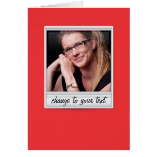 即刻の写真- photoframe -赤の… カード
