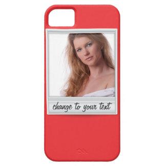 即刻の写真- photoframe -赤の… iPhone 5 cover