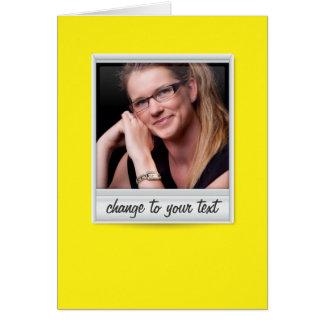 即刻の写真- photoframe -黄色の… ノートカード