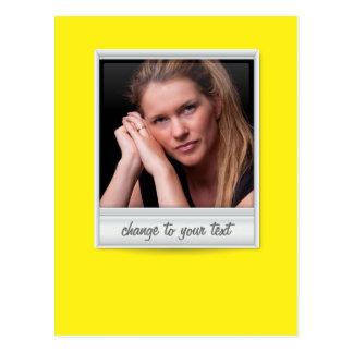 即刻の写真- photoframe -黄色の… ポストカード