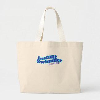 即刻の泳ぐ人のバッグ ラージトートバッグ