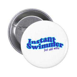 即刻の泳ぐ人の円形ボタン 5.7CM 丸型バッジ