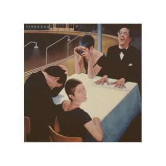 即刻の結果1980年 ウッドウォールアート