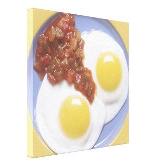 卵およびサルサ キャンバスプリント