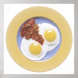 卵およびサルサ ポスター