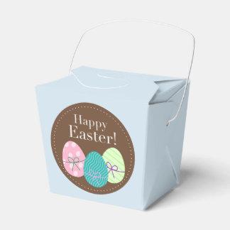 卵が付いているハッピーイースターのパーティの記念品箱 フェイバーボックス