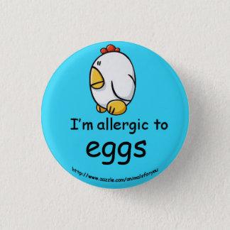 卵のアレルギー 3.2CM 丸型バッジ