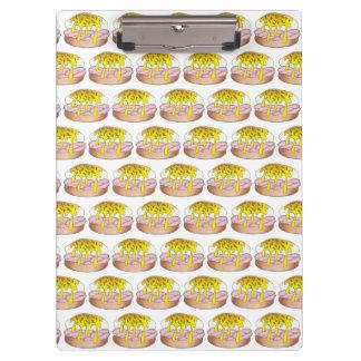 卵のベネディクトの朝食のダイナーの食糧グルメのハム クリップボード